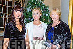 Tracy Sexton, Serena Delaney, Teresa Cronin enjoying the fashion show in Hotel Europe on Thursday night
