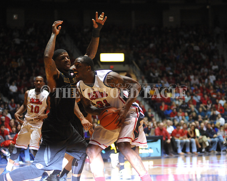 Ole Miss' Murphy Holloway (31) vs. Missouri at the C.M. &quot;Tad&quot; Smith Coliseum on Saturday, January 12, 2013. Ole Miss defeated #10 ranked Missouri 64-49.