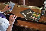 Nederland, Grolloo, 27-09-2011  Een dag na het overlijden van Harry Muskee de frontman van de bluesband Cuby and the Blizzards . Parafernalia te koop in cafe restaurant Hofsteenge. A day after the death of Harry Muskee the frontman of the blues band Cuby and the Blizzards. Paraphernalia  of Harry Muskee for sale in local cafe. FOTO: Gerard Til