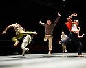 Ipswich, UK. 15.02.2014. Luca Silvestrini's PROTEIN present BORDER TALES at Dance East, Jerwood DanceHouse. Picture shows:  Eryck Brahmania, Femi Oyewole, Stuart Waters, Stephen Moynihan, Kenny Wing Tao Ho. Photograph © Jane Hobson.