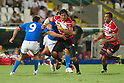 (L-R) Edoardo Gori (ITA), Kosuke Endo,  Michael Leitch (JPN), AUGUST 13, 2011, Rugby : International test match between Italy 31-24 Japan at Dino Manuzzi Stadium, Cesena, Italy, (Photo by Enrico Calderoni/AFLO SPORT) [0391]