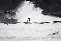 Windsurfing in large seas | Lyall Bay, Wellington New Zealand | 9th August 2010