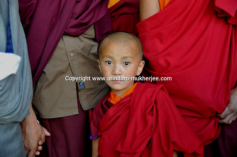 A young buddhist lama at Bumthang tsechu. Arindam Mukherjee.