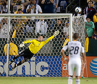 CARSON, CA – NOVEMBER 7:  Seattle Sounders goalie Kasey Keller (18) during a playoff soccer match at the Home Depot Center, November 7, 2010 in Carson, California. Final score LA Galaxy 2, Seattle Sounders 1.