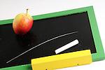 Back to School, school, apple,board<br /> ,copy space