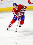 10 February 2010: Montreal Canadiens' defenseman Ryan O'Byrne in action against the Washington Capitals at the Bell Centre in Montreal, Quebec, Canada. The Canadiens defeated the Capitals 6-5 in sudden death overtime, ending Washington's team-record winning streak at 14 games. Mandatory Credit: Ed Wolfstein Photo