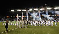 CARSON, CA - November 11, 2012: LA Galaxy vs the Seattle Sounders at the Home Depot Center in Carson, California. Final score LA Galaxy 3, Seattle Sounders 0.