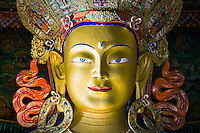 Statue of Maitreya Buddha at Thiksey Monastery, Ladakh, India