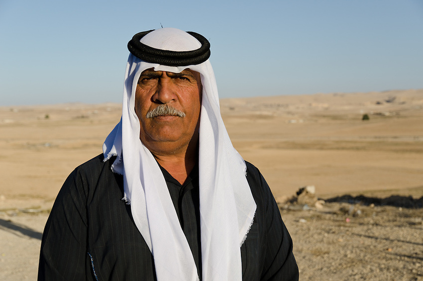 Abu Salman, of the Bedouin village of Abu Queirnat, has been leading the efffort to have his village officially recognized by the Israeli government.
