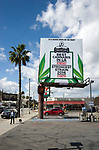 Billboard promoting marijuana shop in the San Fernando Valley of Los Angeles, CA