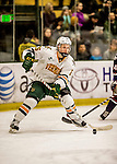 20 January 2017: University of Vermont Catamount Defenseman Trey Phillips, a Junior from Okotoks, Alberta, in first period action against the University of Connecticut Huskies at Gutterson Fieldhouse in Burlington, Vermont. The Catamounts held onto their lead throughout the game to defeat the Huskies 5-4 in Hockey East play. Mandatory Credit: Ed Wolfstein Photo *** RAW (NEF) Image File Available ***