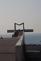 M like Mar, the East extreme point of Diagonal Mar, Forum Esplanade, Barcelona, Catalonia, Spain; 2004; José Antonio Martinez Lapeña (Tarragona, Spain, 1941) and Elías Torres Tur (Ibiza, Spain, 1944); Finalist of the European Union Prize for Contemporary Architecture - 2005 Mies Van der Rohe Prize. Picture by Manuel Cohen