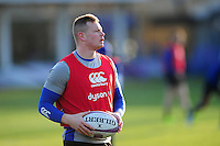 Chris Cook of Bath Rugby looks on during the pre-match warm-up. European Rugby Challenge Cup match, between Bath Rugby and Pau (Section Paloise) on January 21, 2017 at the Recreation Ground in Bath, England. Photo by: Patrick Khachfe / Onside Images