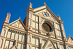 Basilica Santa Croce - Facade - Florence Italy.