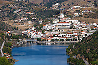 douro river and steep vineyards pinhao douro portugal