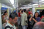 Vagão de trem do metro. São Paulo. 2007. Foto de Juca Martins.