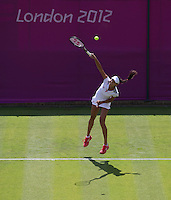 Ana Ivanovic - Serbia..Tennis - OLympic Games -Olympic Tennis -  London 2012 -  Wimbledon - AELTC - The All England Club - London - Saturday 28th June  2012. .© AMN Images, 30, Cleveland Street, London, W1T 4JD.Tel - +44 20 7907 6387.mfrey@advantagemedianet.com.www.amnimages.photoshelter.com.www.advantagemedianet.com.www.tennishead.net