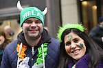 March 16, 2013 - New York, NY, U.S. - At the 252nd annual NYC St. Patrick's Day Parade, thousands of marchers show their Irish pride, as they march up Fifth Avenue, and over a million people, often in green and orange, watch and celebrate.
