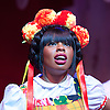 Beauty &amp; The Beast <br /> at Theatre Royal Stratford East <br /> London, Great Britain <br /> press photocall <br /> 9th December 2014 <br /> <br /> Helen Aluko as Beauty <br /> <br /> <br /> <br /> Photograph by Elliott Franks <br /> Image licensed to Elliott Franks Photography Services