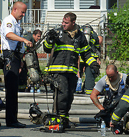 New Haven Fire Department on site | House Fire 16 July 2013
