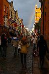 A Rainbow is seen over Temple Bar Street in Dublin, Ireland on Saturday, June 22nd 2013. (Photo by Brian Garfinkel)