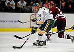 23 January 2009: University of Vermont Catamount forward Justin Milo, a Sophomore from Edina, MN, in action against the University of Massachusetts Minutemen during the first game of a weekend series at Gutterson Fieldhouse in Burlington, Vermont. The Catamounts defeated the visiting Minutemen 2-1. Mandatory Photo Credit: Ed Wolfstein Photo