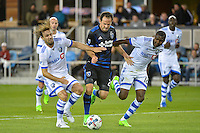 San Jose, CA - Saturday, March 04, 2017: Marco Donadel, Marco Ureña, Chris Duvall prior to a Major League Soccer (MLS) match between the San Jose Earthquakes and the Montreal Impact at Avaya Stadium.