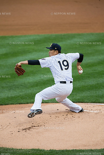 Masahiro Tanaka (RailRiders),<br /> MAY 21, 2015 - 3A : New York Yankees pitcher Masahiro Tanaka pitches during the Minor League Triple A baseball game between the Scranton/Wilkes-Barre RailRiders and the Durham Bulls at PNC Field in Scranton, Pennsylvania, United States.<br /> (Photo by Thomas Anderson/AFLO) (JAPANESE NEWSPAPER OUT)