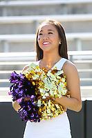 AUG 16, 2014:  University of Washington cheerleader Jackie Lin during Football Picture Day at Husky Stadium in Seattle, Washington