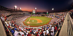 Twilight panoramic view at a regular season Phillies game held at Citizens Bank Park during the 2009 season.