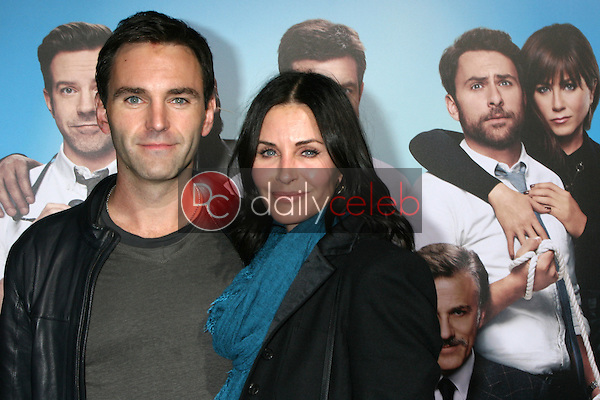 "LOS ANGELES - NOV 20:  Johnny McDaid, Courteney Cox at the ""Horrible Bosses 2"" Premiere at the TCL Chinese Theater on November 20, 2014 in Los Angeles, CA"
