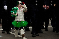 A girl takes part on a march during the 252nd annual St. Patrick's Day Parade in New York City. Photo by Eduardo Munoz Alvarez / VIEWpress.