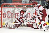 Raphael Girard (Harvard - 30), Desmond Bergin (Harvard - 37) - The Harvard University Crimson defeated the visiting Bentley University Falcons 5-0 on Saturday, October 27, 2012, at Bright Hockey Center in Boston, Massachusetts.