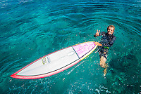 Four Seasons,Kuda Huraa, Maldives (Monday, August 3, 2015) Neco Padaratz (BRA). The swell was out of the South East today with waves in the 2'-3' range and  clean conditions. There was a surf session at Honkeys this morning with Neco Padaratz (BRA) and Shane Dorian (HAW), competitors in the Four Seasons Maldives Surfing Champions Trophy using the session s a warm up. There was very a light West South West wind with very good conditions. <br /> There was also a session at Ninjas in the afternoon.  Photo: joliphotos.com