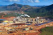 Usine Vale Nouvelle-Calédonie (exploitation de nickel et cobalt) à Goro, Sud de la Nouvelle-Calédonie