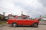 One of several Fiat knock-off cars made by the communists, the Žigulík is a vintage car often seen in the Czech Republic, Červené Řečice, CZ, Europe