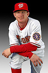 25 February 2007: Washington Nationals catcher Robert Fick poses for his Photo Day portrait at Space Coast Stadium in Viera, Florida.<br /> <br /> Mandatory Photo Credit: Ed Wolfstein Photo<br /> <br /> Note: This image is available in a RAW (NEF) File Format - contact Photographer.