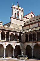 Cloister, Parish of San Francisco and San Eulogio de la Ajerquía, founded during the 13th Century, centre of the Franciscans until 1812 when the monastery disappeared, Cordoba, Andalusia, Spain. Picture by Manuel Cohen