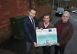 Ed Hunt, Director of Superfast Cymru, local MP Alun Cairns and the local Cllr for Dinas Powys, Christopher P. Franks at the switch on of BT Fibre Broadband in Dinas Powys.<br /> 19.02.14<br /> <br /> &copy;Steve Pope-FOTOWALES