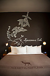Room number 400, a corner deluxe suite at The Ace Hotel in downtown Portland, a hip budget boutique hotel.