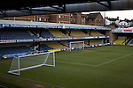 Southend United 1 Burton Albion 1, 22/02/2016. Roots Hall, League One. The view from the main stand towards the south stand at Roots Hall stadium, pictured before Southend United took on Burton Albion in a League 1 fixture. Founded in 1906, Southend United moved into their current ground in 1955, the construction of which was funded by the club's supporters. Southend won this match by 3-1, watched by a crowd of 6503. Photo by Colin McPherson.