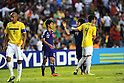(L-R) Fumiya Hayakawa, Daisuke Takagi (JPN),JULY 3, 2011 - Football :Daisuke Takagi #19 of Japan hugs Matheus #4 of Brazil as Fumiya Hayakawa #12 of Japan walks off the pitch after the 2011 FIFA U-17 World Cup Mexico Quarterfinal match between Japan 2-3 Brazil at Estadio Corregidora in Queretaro, Mexico. (Photo by AFLO)