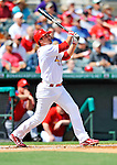 3 March 2011: St. Louis Cardinals' infielder Ryan Theriot in action during a Spring Training game against the Washington Nationals at Roger Dean Stadium in Jupiter, Florida. The Cardinals defeated the Nationals 7-5 in Grapefruit League action. Mandatory Credit: Ed Wolfstein Photo
