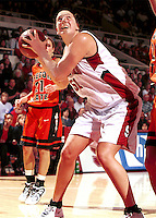 STANFORD, CA - JANUARY 13: Cori Enghusen of the Stanford Cardinal during Stanford's 78-58 win over the Oregon State Beavers on January 13, 2000 at Maples Pavilion in Stanford, California.