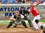 19 June 2011: Washington Nationals' infielder Jerry Hairston in action against the Baltimore Orioles at Nationals Park in Washington, District of Columbia. The Orioles defeated the Nationals 7-4 in inter-league play, ending Washington's 8-game winning streak. Mandatory Credit: Ed Wolfstein Photo