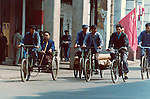 Bikers in Canton,Pictures taken in Canton China in 1977 at the time of the cultural revolution.