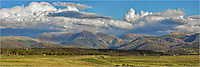 This Colorado Image is a stitch of several images to give a panorama view of the Fraser Valley with James and Parry Peaks in the background. The clouds were moving swiftly, and this scene did not last long. The rains were falling withing about 20 minutes!
