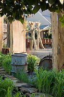 """""""After The Fall"""" by Jack Chandler at Late Show Gardens with """"Grass Men"""" by artist, Simple at The Late Show Gardens, Cornerstone, Sonoma"""