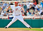 6 March 2011: Washington Nationals' pitcher Todd Coffey on the mound during a Spring Training game against the Atlanta Braves at Space Coast Stadium in Viera, Florida. The Braves shut out the Nationals 5-0 in Grapefruit League action. Mandatory Credit: Ed Wolfstein Photo