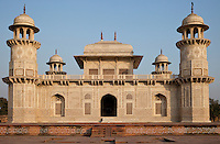 "Agra, India.  Itimad-ud-Dawlah, Mausoleum of Mirza Ghiyas Beg, in mid-Afternoon.  The tomb is sometimes referred to as the ""Baby Taj."""